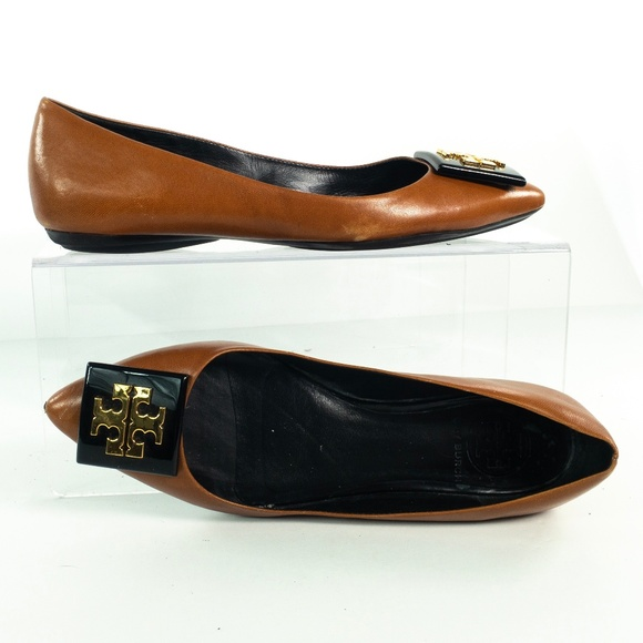 1c8456ad8f91d Tory Burch Pointed Toe Flats Brown Leather Slip On.  M 5c6423560cb5aa7ca30b108b